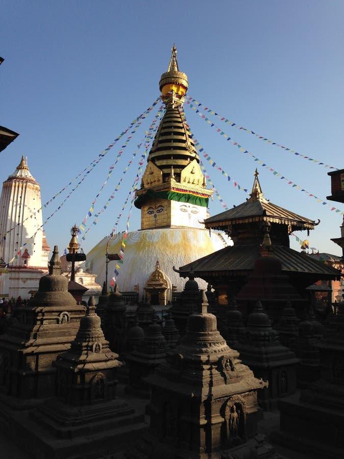 Swayambhunath в Kathmandu Valley стоковое фото