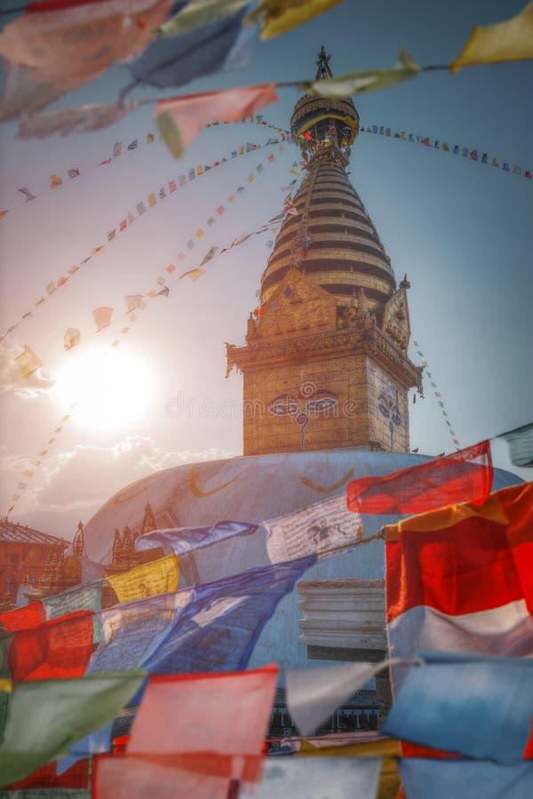 Swayambhunath stockfotos