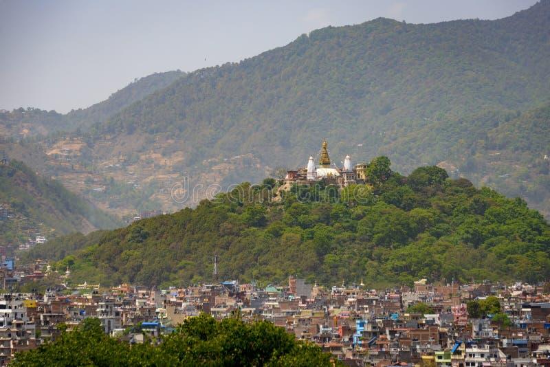 Swayambhunath em Kathmandu, Nepal imagem de stock royalty free