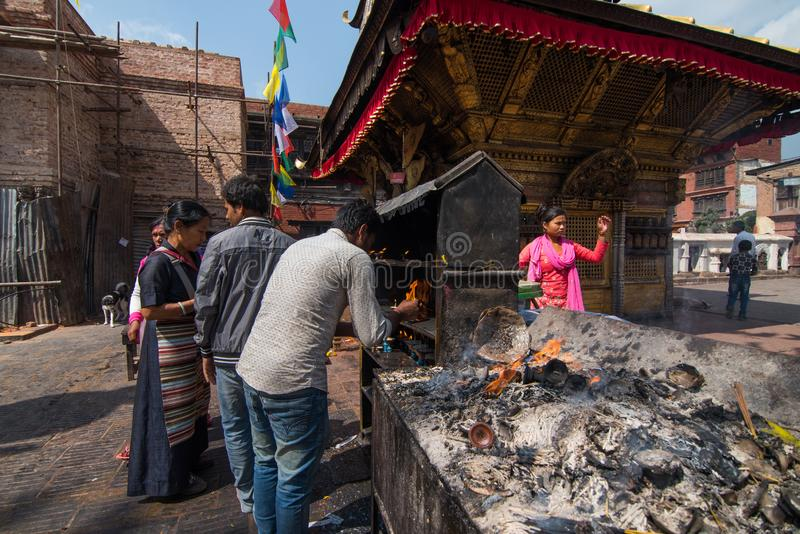 Swayambhunath lub Małpia świątynia, Kathmandu, Nepal Świątynia jest zdjęcie royalty free