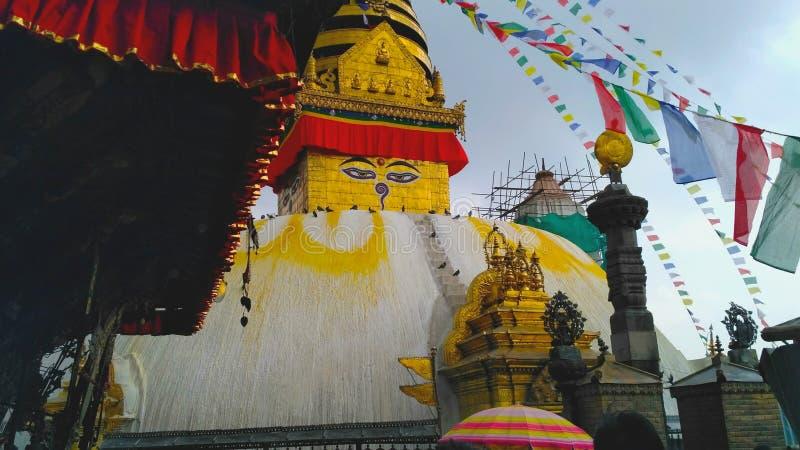 Swayambhunath, Népal image stock