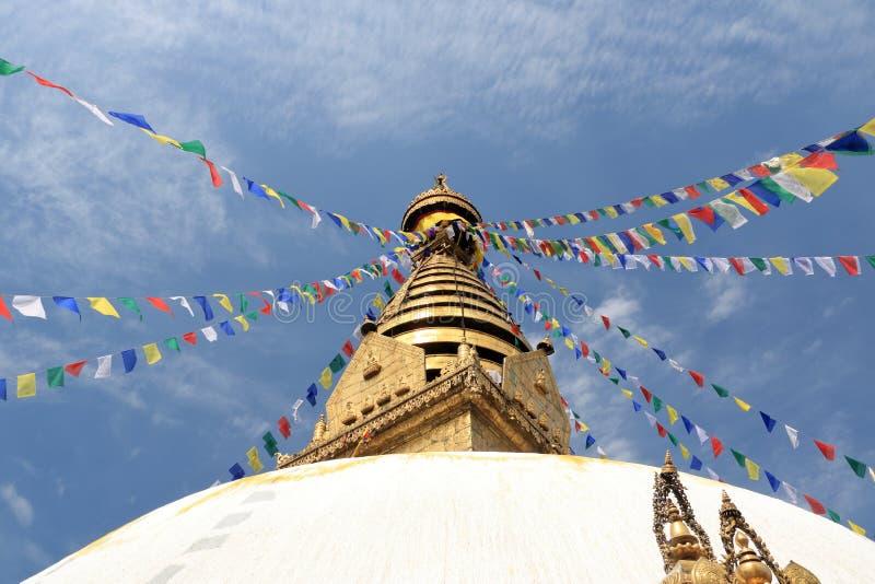 """Swayambhunath Stupa, αποκαλούμενο επίσης """"ναό πιθήκων """"στο Κατμαντού στο Νεπάλ στοκ φωτογραφίες με δικαίωμα ελεύθερης χρήσης"""