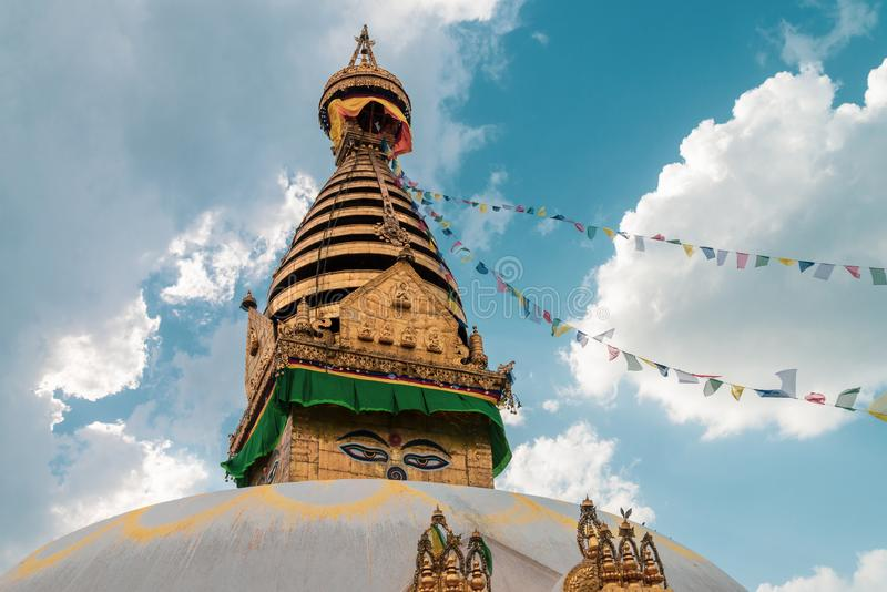 Swayambhunath Stupa ο ναός πιθήκων στοκ εικόνες