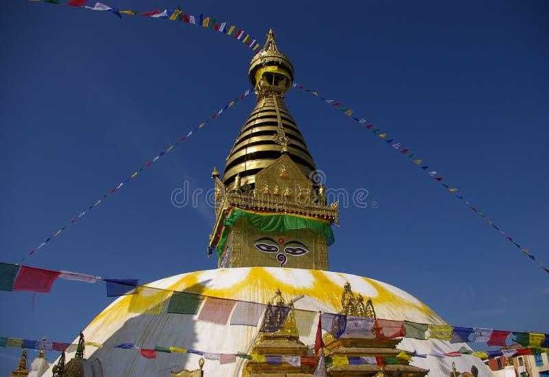 Swayambhunath Stupa, Kathmandu, Nepal fotografia stock libera da diritti