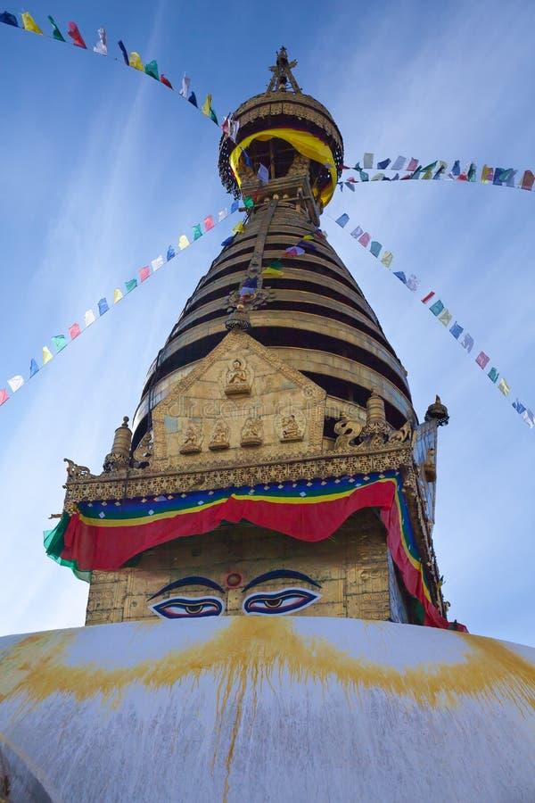 Swayambhunath stupa, Kathmandu, Nepal. Swayambhunath stupa in Kathmandu, Nepal stock images