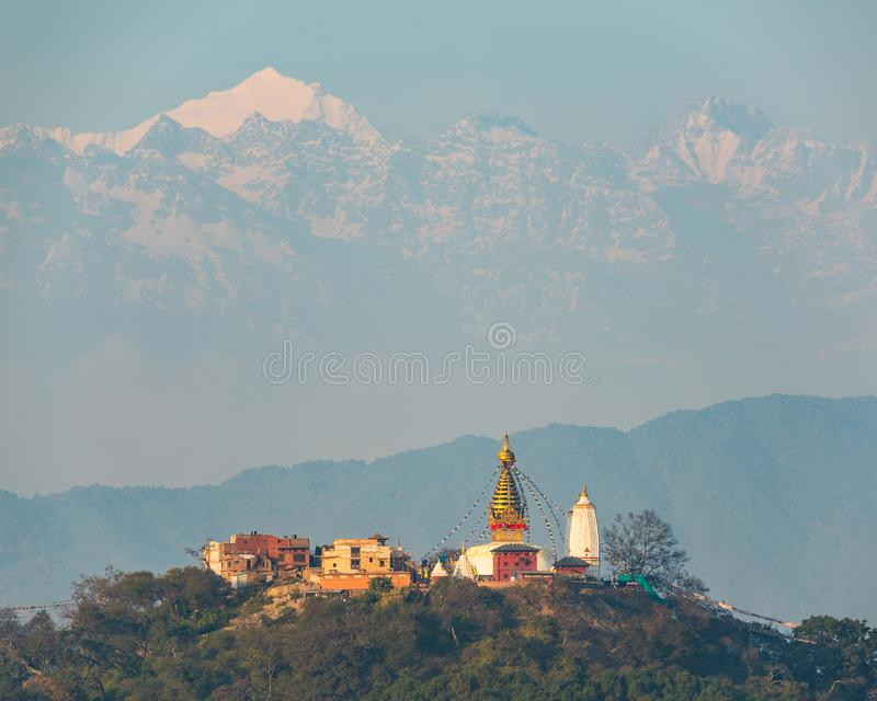 Swayambhunath stupa in Kathmandu, Nepal stock photos