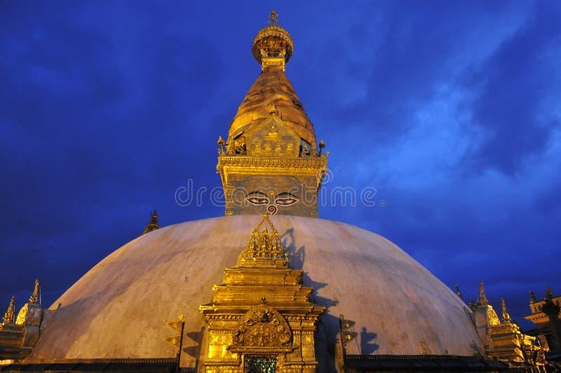 Swayambhunath Stupa, Nepal lizenzfreie stockfotografie