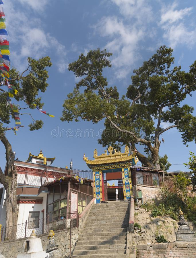 Swayambhunath Stupa stockbild
