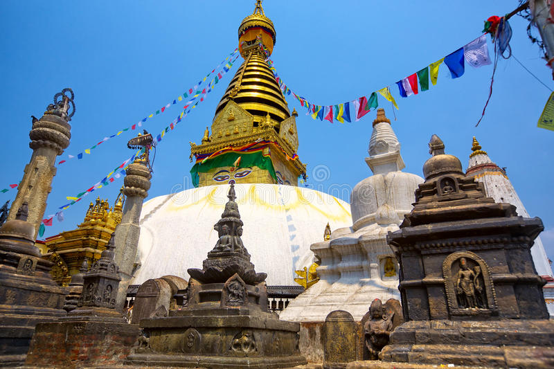 Swayambhunath Stupa royalty free stock photos