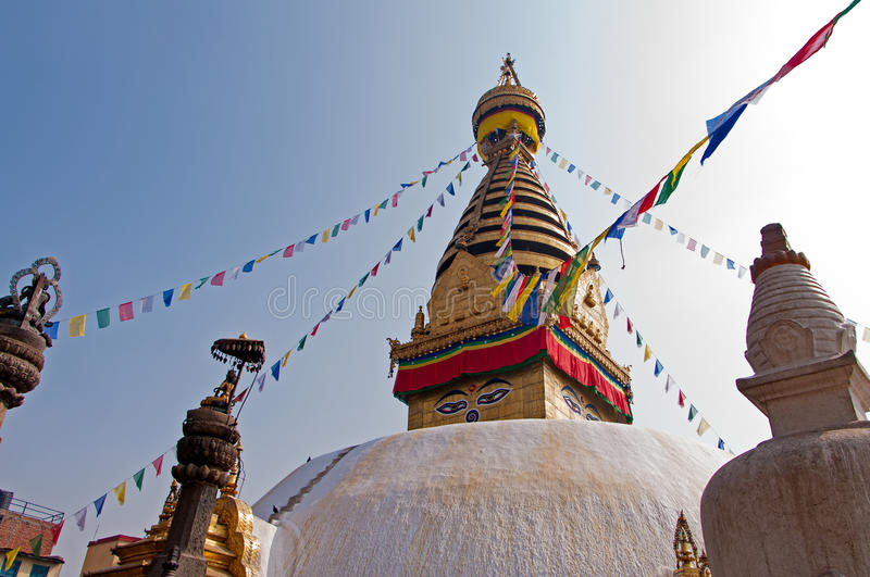 Swayambhunath Tempel lizenzfreie stockfotografie