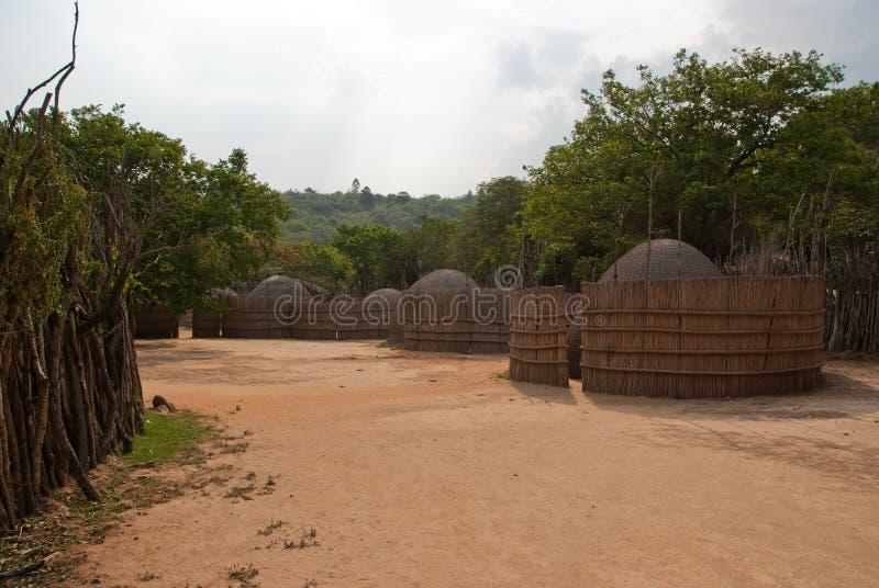 Swazi village stock photo