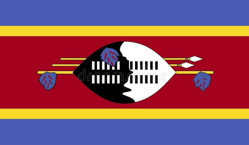 Swaziland flaggabild royaltyfri illustrationer