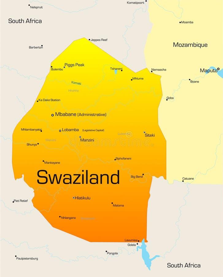 Swazilandia stock de ilustración