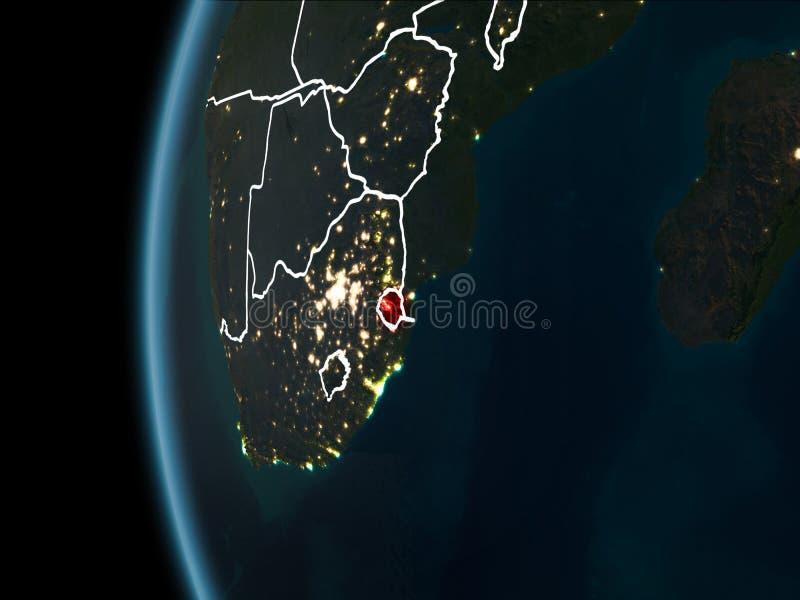 Swazilandia del espacio en la noche libre illustration