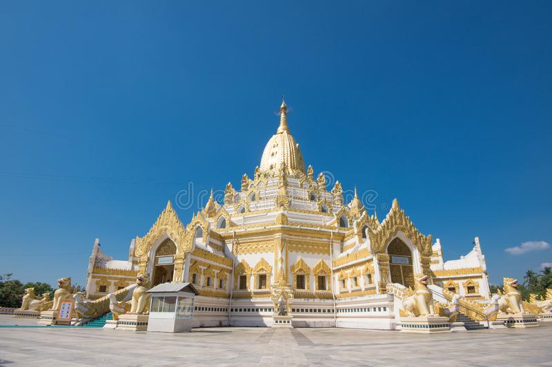 Swe Taw Myat, Buddha Tooth Relic Pagoda a famous and beautiful buddhist temple in yangon , myanmar royalty free stock photo