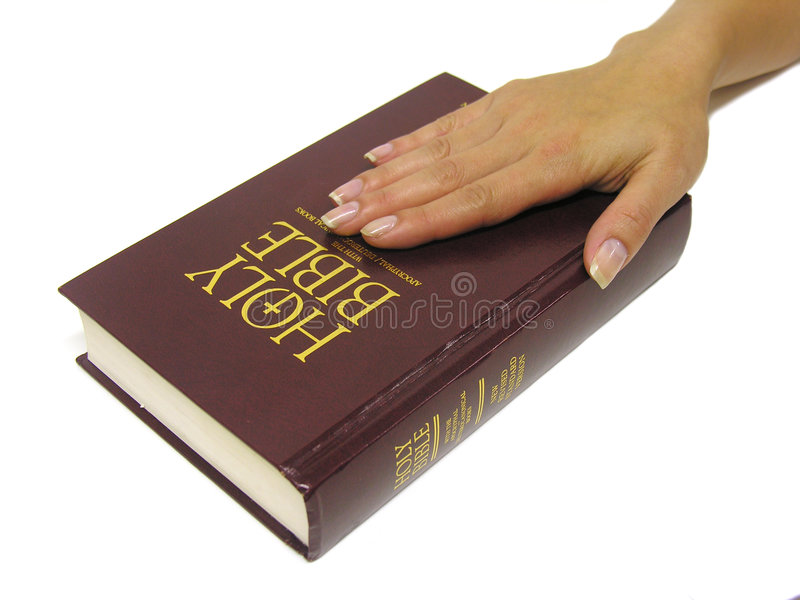 Swearing on the Bible royalty free stock images