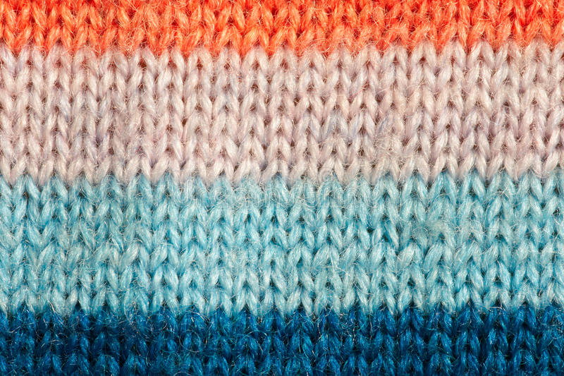 Sweater. The close-up of colored stripe sweater stock photos