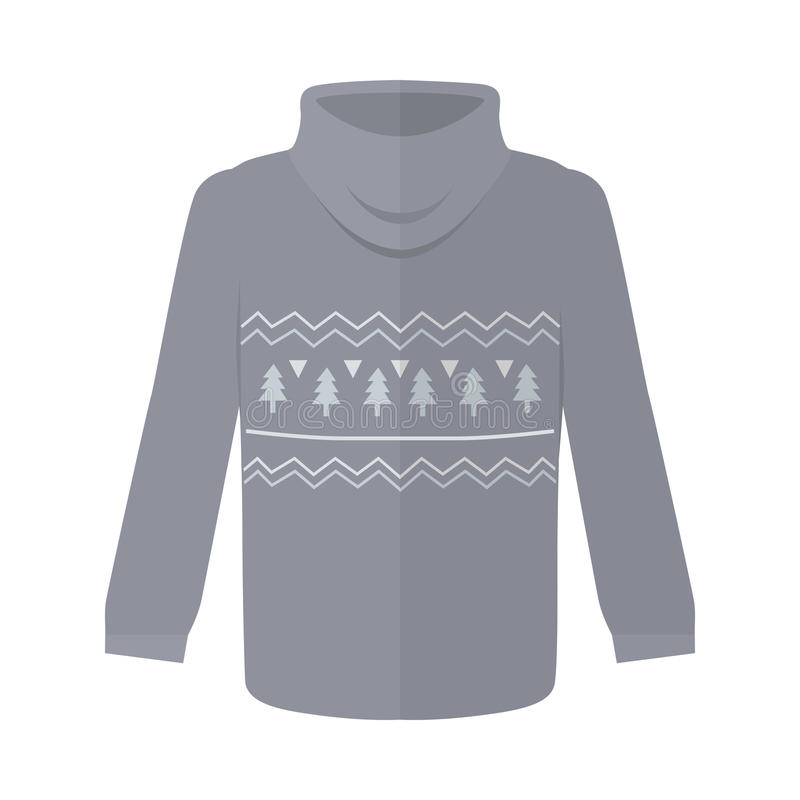 Sweater or Jumper with Fir Tree Icons Isolated royalty free illustration