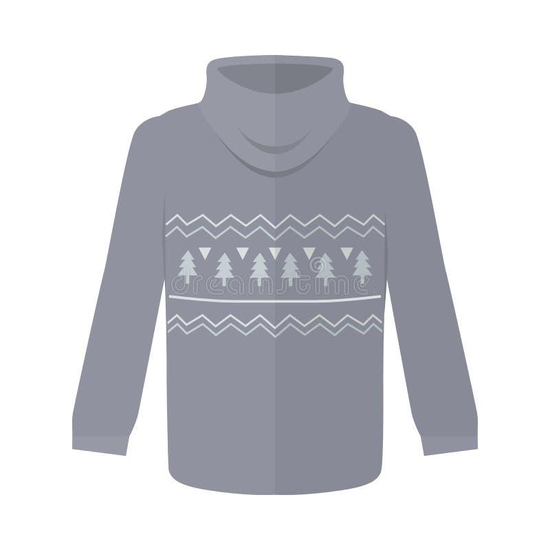 Sweater of Verbindingsdraad met Geïsoleerde Sparrenpictogrammen royalty-vrije illustratie