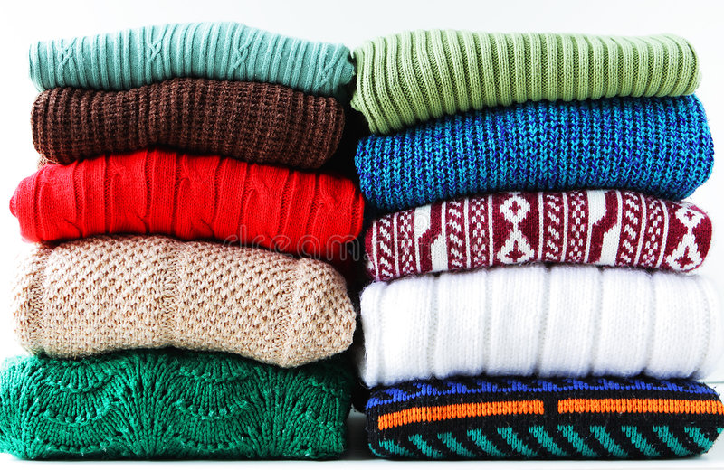 Sweaters royalty free stock photography