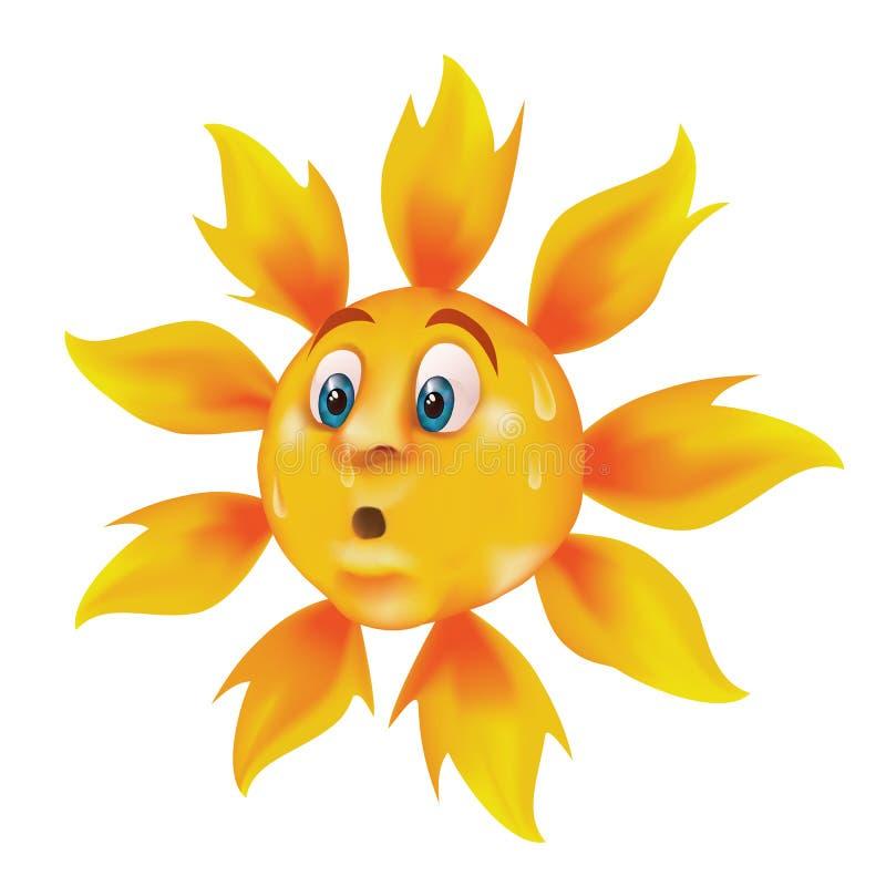 Download Sweating cartoon sun stock vector. Image of flames, illustration - 19517663