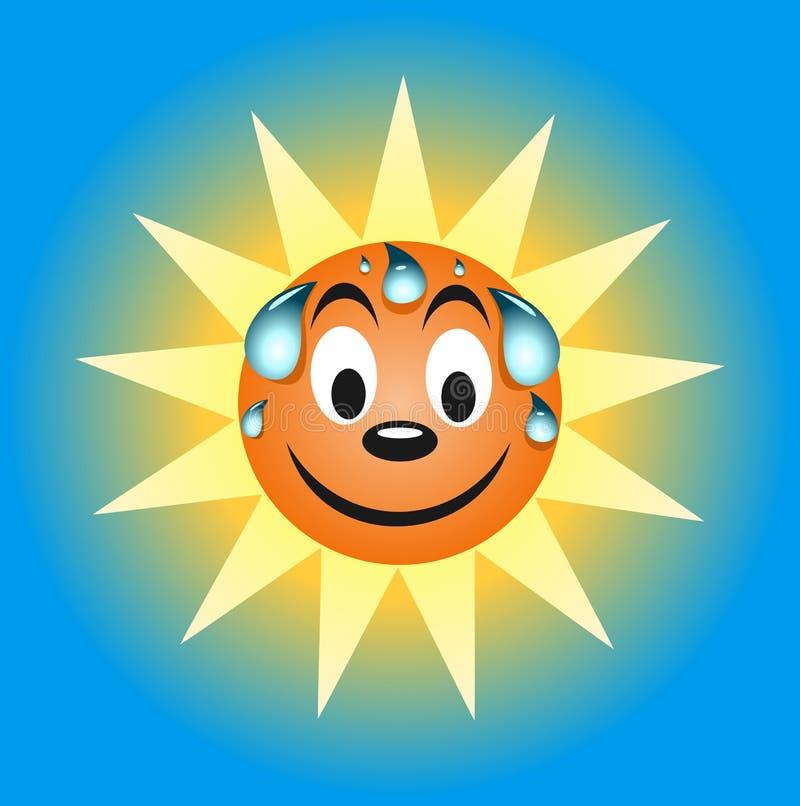 Download Sweating summer sun stock vector. Illustration of sunlight - 25560581