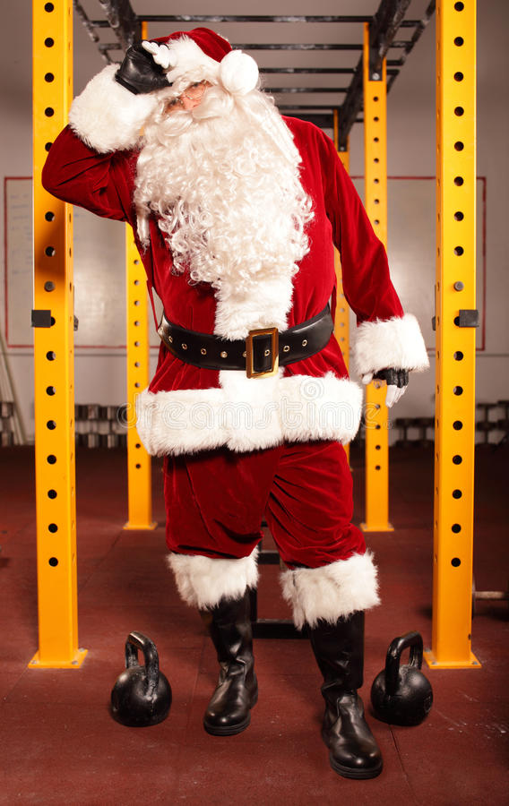Free Sweating, Tired Santa Claus Royalty Free Stock Photography - 34115287