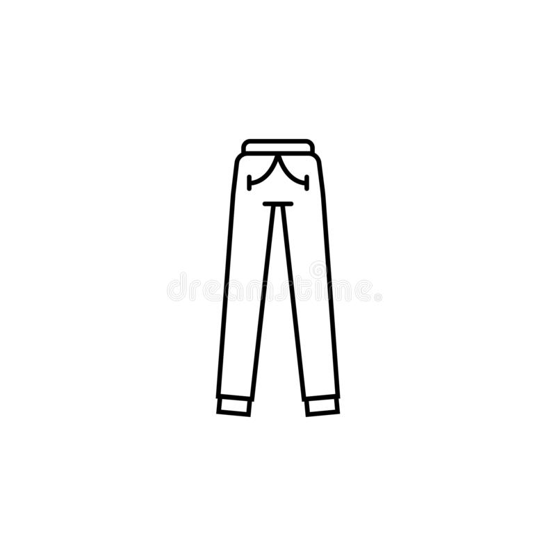 Sweatpants clothes icon. Element of clothes icon for mobile concept and web apps. Thin line Sweatpants clothes icon can be used royalty free illustration