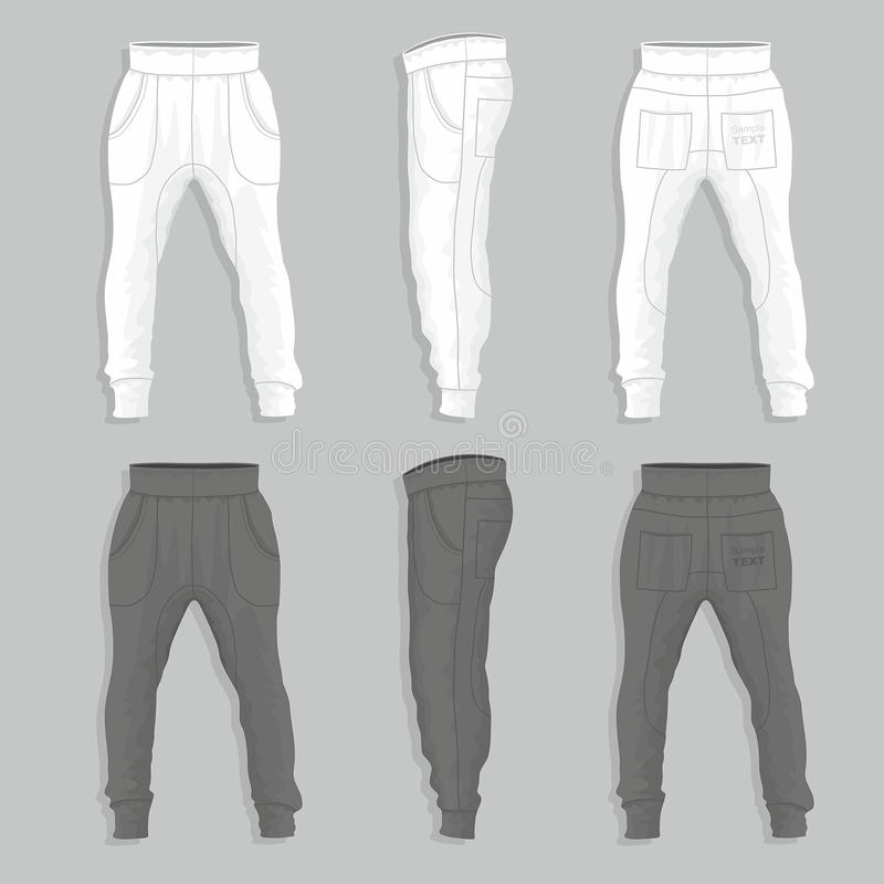 Sweatpants stock illustration