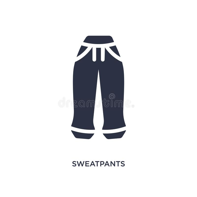 sweatpants icon on white background. Simple element illustration from clothes concept vector illustration