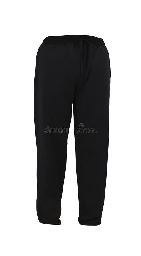 Sweatpants preto isolado no branco imagem de stock royalty free