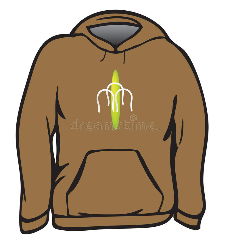 Download Sweatshirt stock illustration. Image of cloth, brown - 16292529