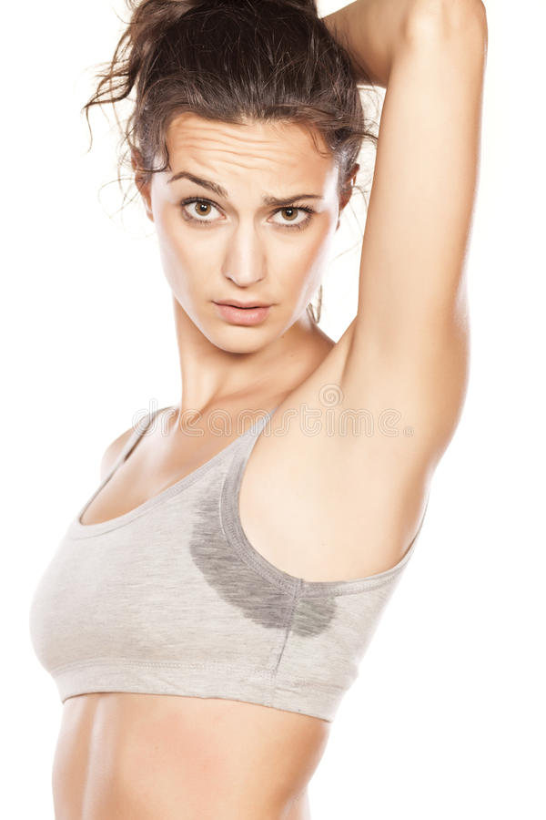 Sweaty armpits stock photography