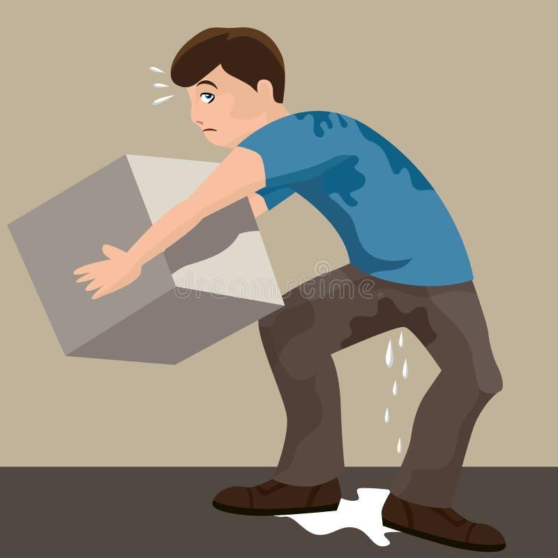 Sweaty Man stock illustration
