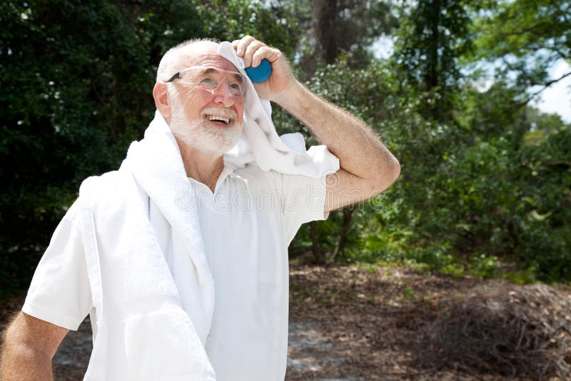 Download Sweaty Senior Athlete stock image. Image of people, sports - 20022651
