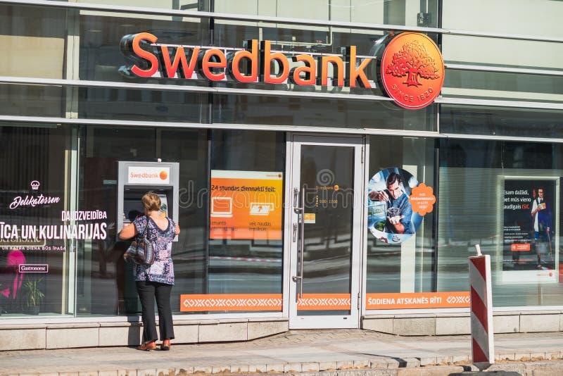 Swedbankbank in Riga, Letland royalty-vrije stock foto's