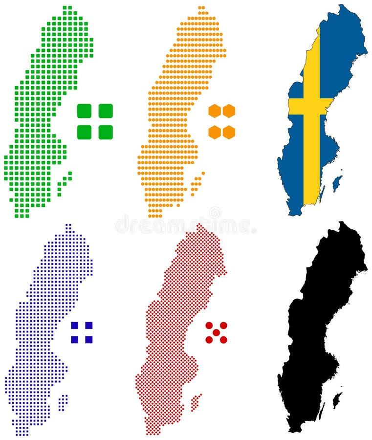 sweden vektor illustrationer