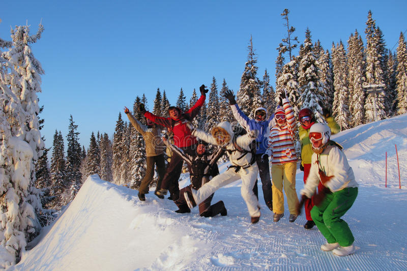Sweden (Are). Celebrating of opening of a mountain-skiing season 2010 in Sweden (Are stock image