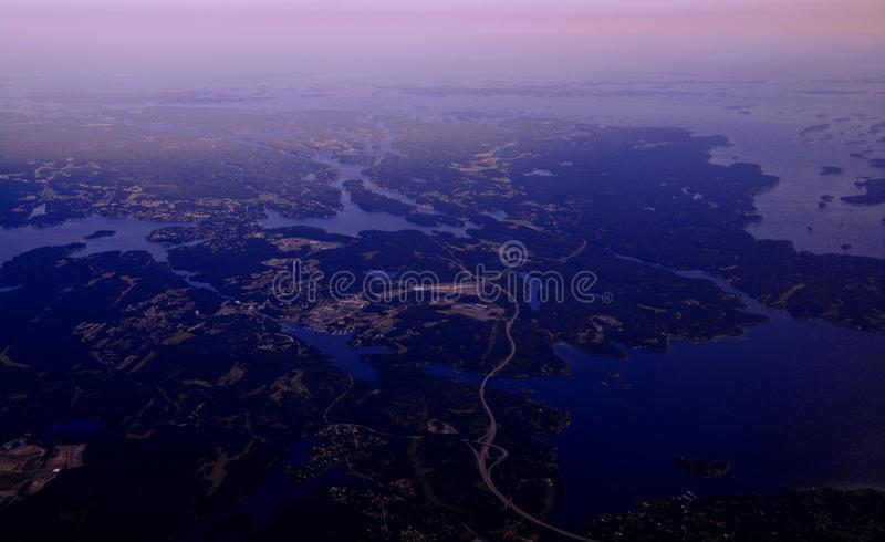 Sweden from above royalty free stock photos