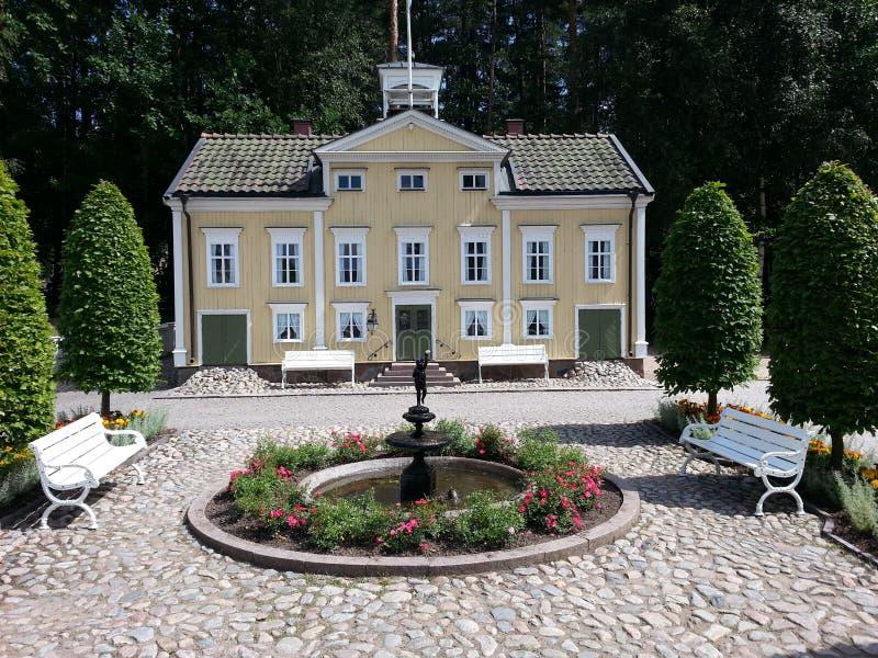 Sweden astridlindgren house yard landscape royalty free stock images