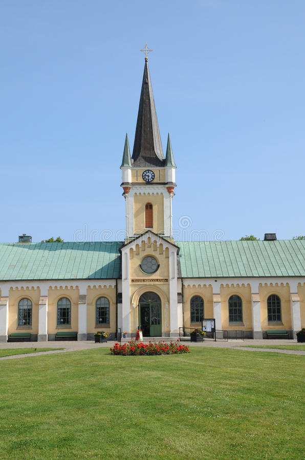 Sweden, Borgholm. Sweden, the chuch of Borgholm stock photo