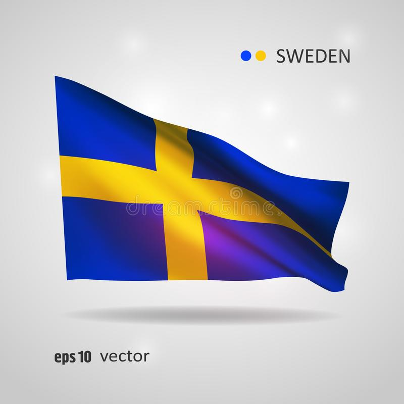 Vector flag of Sweden stock illustration