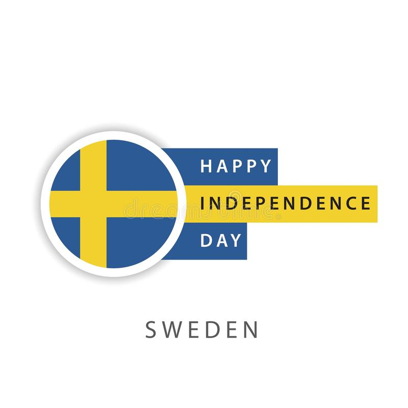Happy Sweden Independence Day Vector Template Design Illustrator royalty free illustration