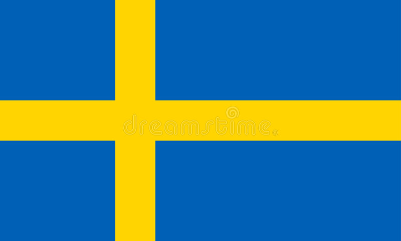 Sweden flag vector illustration