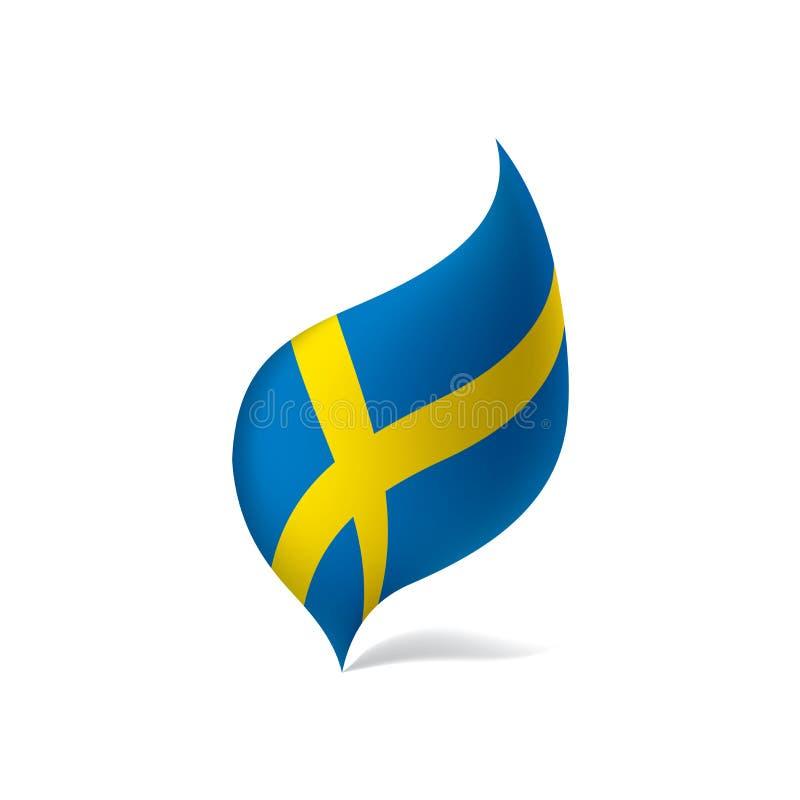 Sweden flag, vector illustration stock illustration