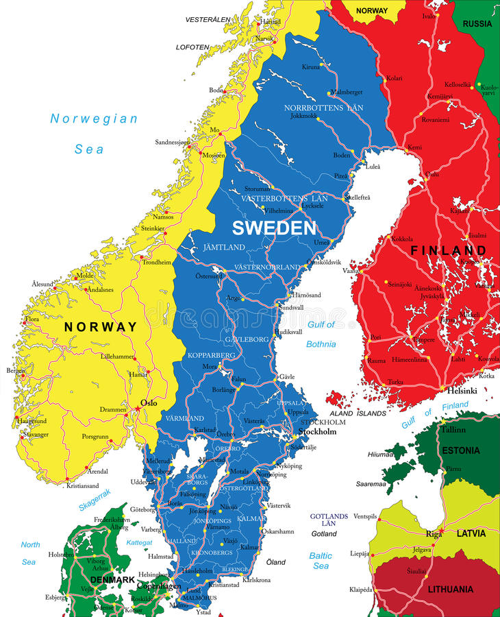 Sweden map stock vector Illustration of helsingborg 35813953