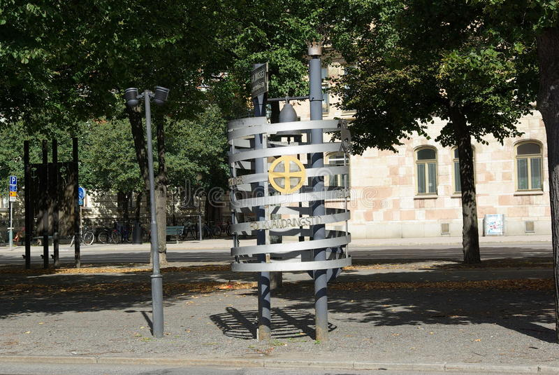 Sweden, Modern Sculpture royalty free stock photos