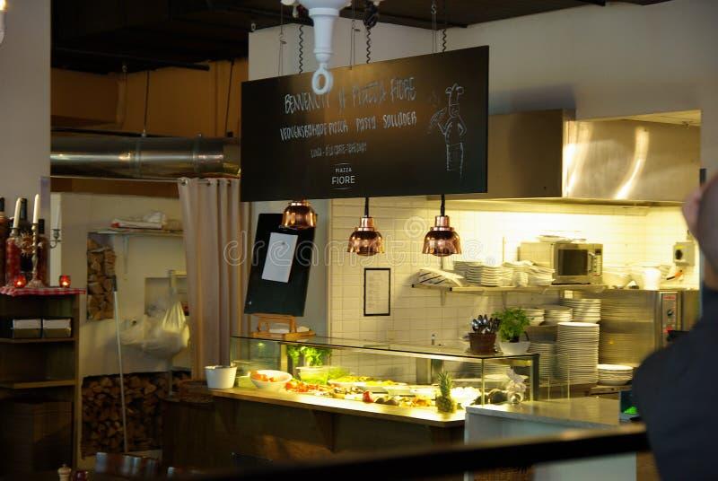 Sweden, Pizzeria stock photography