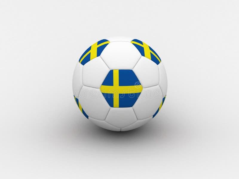 Sweden soccer ball stock photo