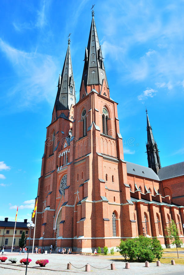 Sweden. Uppsala Cathedral royalty free stock photo